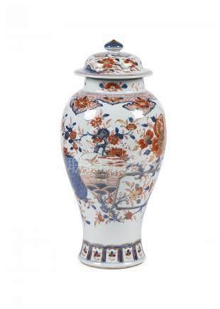 Pote c/ tampa porcelana chinesa, decoração Imari