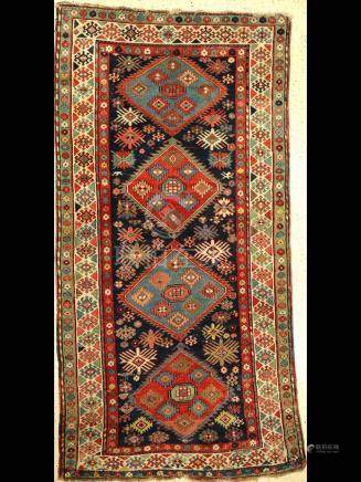 Kazak Rug, Caucasus, late 19th century, wool on wool