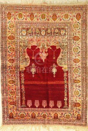 Anatolian Prayer Rug, Turkey, around 1930, wool on