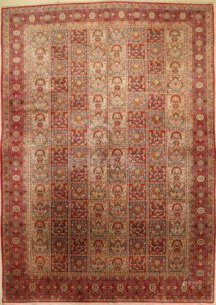 Kashan Carpet, Persia, approx. 60 years, wool on cotton