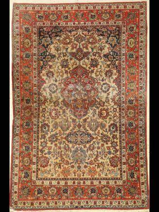 Isfahan 'Shooreshi' Rug, Persia, around 1920, cork wool on