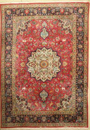 Tabriz Carpet, Persia, approx. 40 years, wool, approx. 340