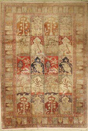 Kaisery-Flosh Rug, Turkey, approx. 50 years, Floshsilk