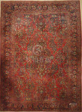 Saruk US Carpet, Persia, around 1900, wool on cotton