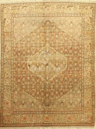 Tabriz Rug, Persia, around 1900, wool on cotton
