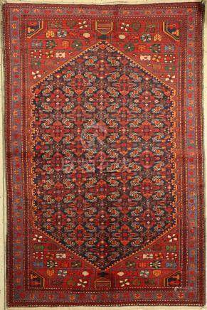 Hamadan Rug, Persia, around 1930, wool on cotton