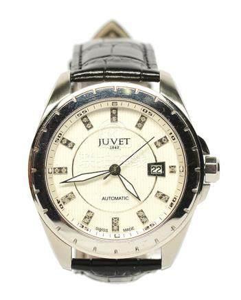 瑞士 JUVET 鋼自動上鏈皮帶腕錶