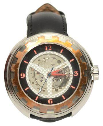AXTIN PERRIE 鋼手動上鏈皮帶腕錶