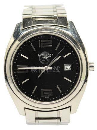 瑞士 LONGINES 浪琴鋼石英腕錶