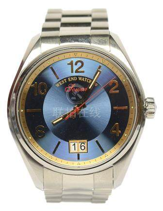 瑞士 SOWAX WESTEND鋼石英腕錶