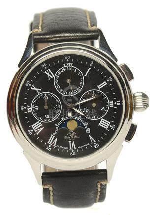 歐洲 GS 鋼手動上鏈皮帶腕錶