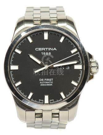 瑞士 CERTINA 雪鐵納鋼自動上鏈腕錶