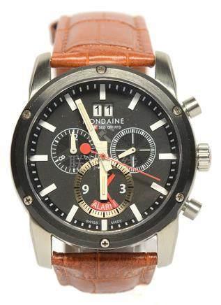 瑞士 MONDAINE 國鐵 鋼自動上鏈皮帶腕錶