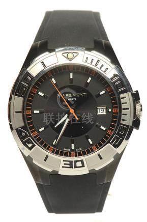 MARE MONTI 鋼石英塑膠帶腕錶
