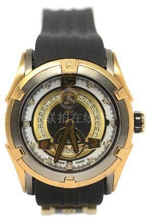 瑞士 HEYS 鍍金自動上鏈塑膠帶腕錶