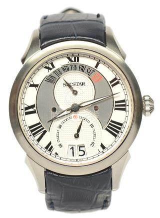 SIX STAR 鋼石英皮帶腕錶