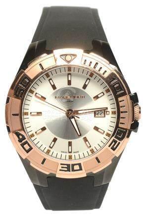 瑞士 MAREMONTI 鍍金石英塑膠帶腕錶