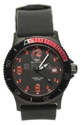 瑞士 GLYCINE 鋼石英塑膠帶腕錶