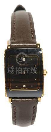 瑞士 RADO 雷達 鋼石英皮帶腕錶