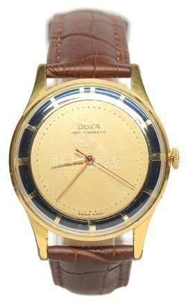瑞士 DOXA 時度 鍍金手動上鏈皮帶腕錶