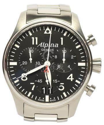 瑞士 ALPINA 鋼石英腕錶