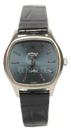 瑞士 ROLEX 勞力士 鋼手動上鏈皮帶腕錶