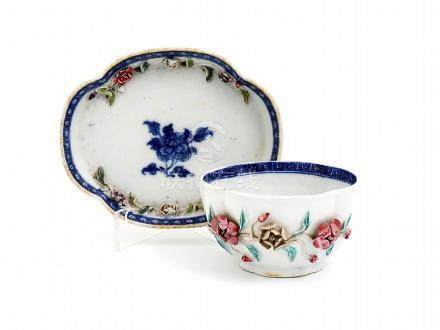 A QIANLONG CUP WITH SAUCER