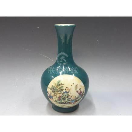 Green Glazing Vase
