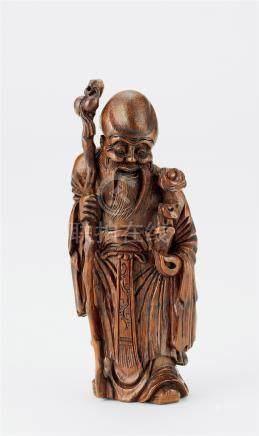 18世纪 竹雕寿星像