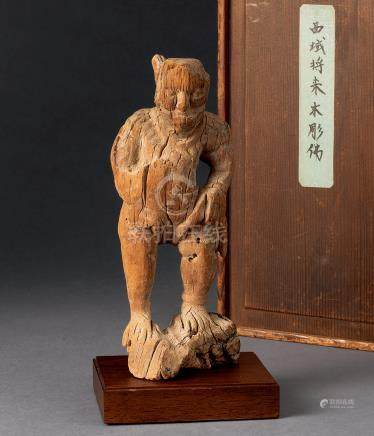 古西域木雕人物