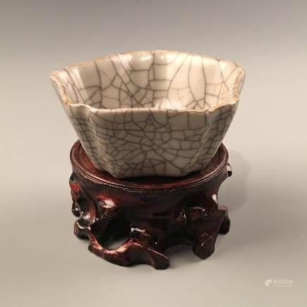 Chinese Guan Type Porcelain Bowl