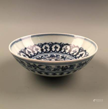Chinese Blue and White Bowl, XuanDe Mark
