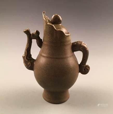 Chinese Tea Dust-Glazed Pitcher