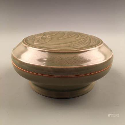 Chinese Longquan Ware Porcelain Bowl with Lid