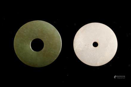 TWO CHINESE ARCHAISTIC BI DISC