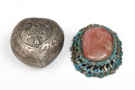 GROUP OF TWO JEWELRY AND SILVER WARE