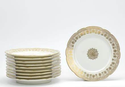 10 Limoge Porcelain Bread&Butter Plates,19-20th C.