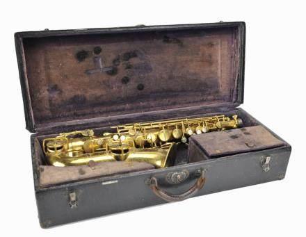 "Antique ""Low Tone"" Saxophone ,1870"
