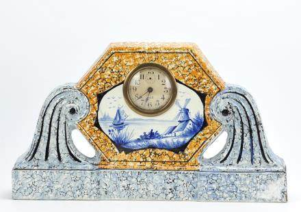 Dutch Deco Style Mantel clock, Holland 1930
