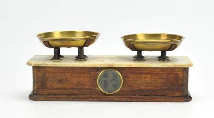 Antique Brass,Marble&Wooden Scale ,English 1870