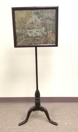 English Style Walnut Pole Screen ,19th C