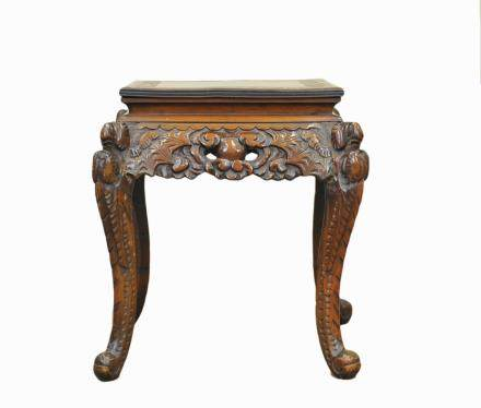 Engraved Chinese End table,20th C.