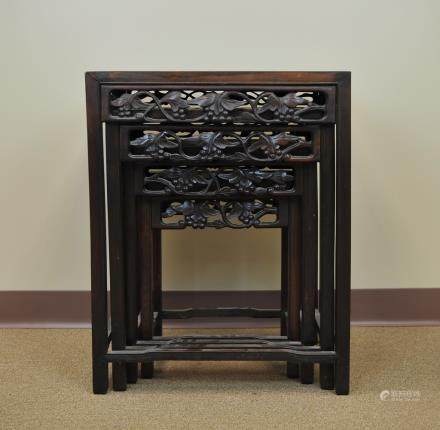 A Set of 4 Chinese Nesting Tables