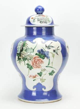 Chinese Famille Verte Jar And Cover,19th Century