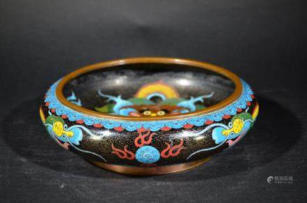 A beuatiful CLOISONNE ENAMEL DRAGON WASHER