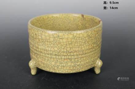 Song Ge Glaze Three-foot Rotary Furnace