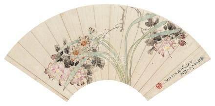 任薰(1835~1893) 水仙 镜心 设色纸本