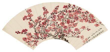 阮性山(1891~1974) 红梅 镜心 设色纸本