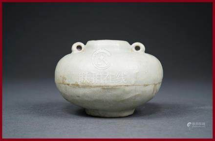 PETITE JARRE A EAU GLOBULAIRE ET A DEUX OREILLES Chine, Probablement de la Dyna