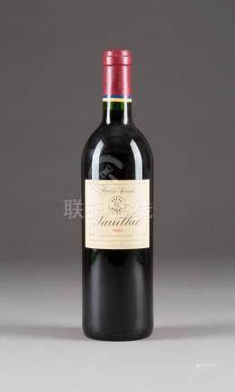 DOMAINES BARONS DE ROTHSCHILD LAFITE RÉSERVE SPECIALE 1992 PAUILLAC  7 Flaschen, 0,75l (hf).  Rheinische Privatsammlung.